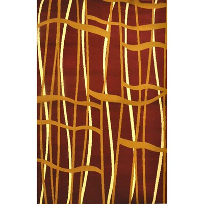 Nitish Burgundy Area Rug Rug Size: Runner 27 x 91