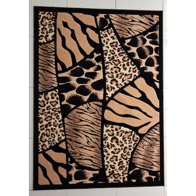 New Rockford Black Area Rug Rug Size: Rectangle 5'3