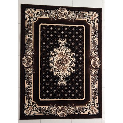 Trenton Black Area Rug Rug Size: Rectangle 53 x 72