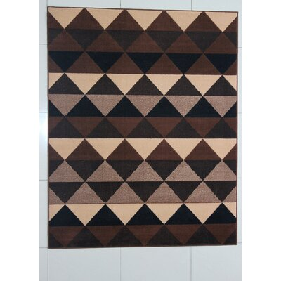 Randazzo Brown Area Rug Rug Size: 711 x 910