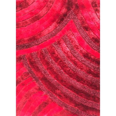 Varun Red Area Rug Rug Size: 53 x 72