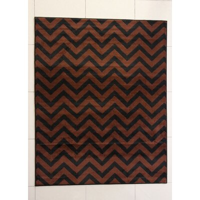 Eusebio Black/Brown Area Rug Rug Size: 53 x 72