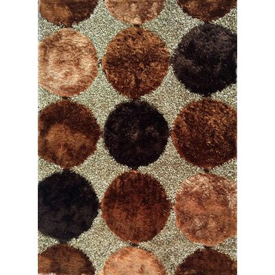 Tymir Brown Area Rug Rug Size: 53 x 72
