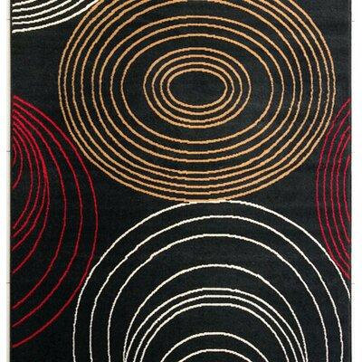 Skip Black Area Rug Rug Size: 53 x 72
