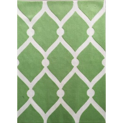 Buhr Green Area Rug Rug Size: 53 x 72