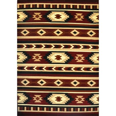 Downs Burgundy Area Rug Rug Size: 5'3