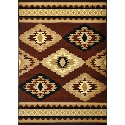 Dunder Brown Area Rug Rug Size: 53 x 72