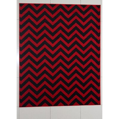 Nelissen Red Area Rug Rug Size: 53 x 72