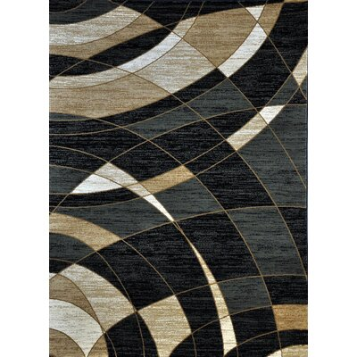 Mulcahy Black Area Rug Rug Size: Runner 27 x 91