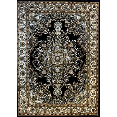 Ackerman Black Area Rug Rug Size: 53 x 72