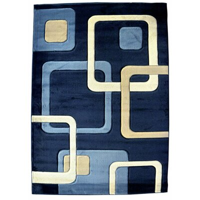 Divanique Dark Blue Area Rug Rug Size: 711 x 910