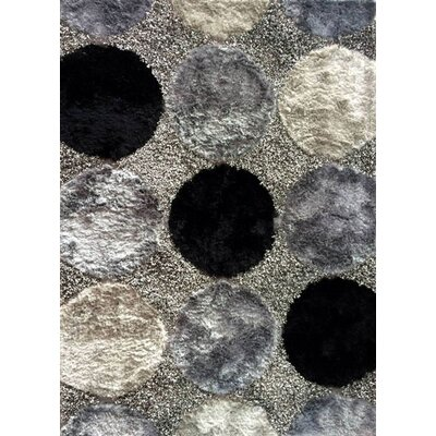 Circe Black Area Rug Rug Size: 53 x 72