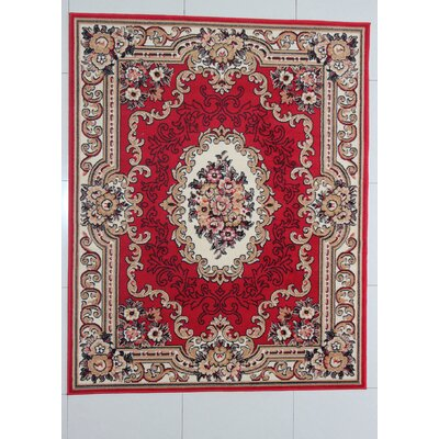 Laprade Red Area Rug Rug Size: 5'3