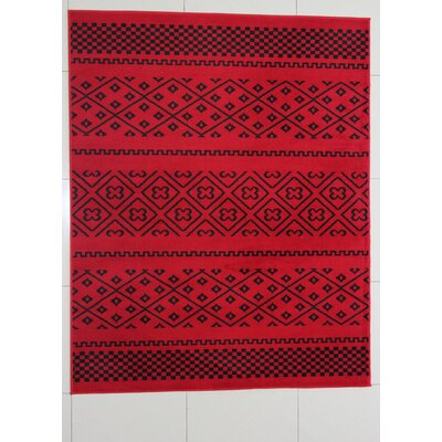 Harwood Red Area Rug Rug Size: 53 x 72