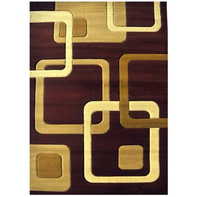 Demarie Burgundy Area Rug Rug Size: Runner 27 x 72