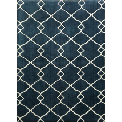 Davy Navy Area Rug Rug Size: 53 x 72