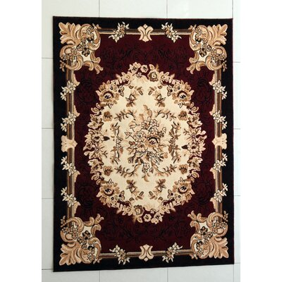 Alfson Burgundy Area Rug Rug Size: Rectangle 711 x 910
