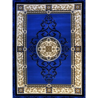 Poindexter Light Blue Area Rug Rug Size: 53 x 72