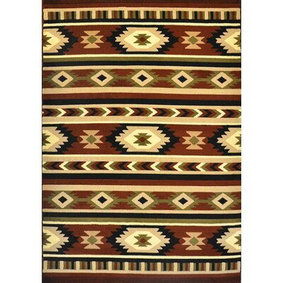 Ellison Brown Area Rug Rug Size: 711 x 910