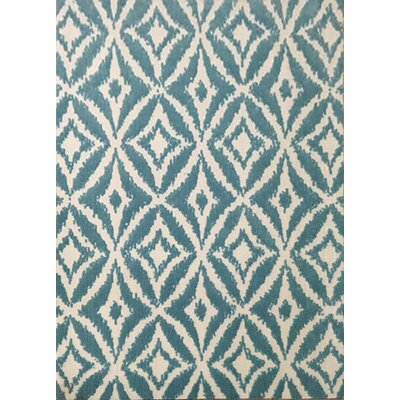 Cottrill Blue Area Rug Rug Size: 53 x 72