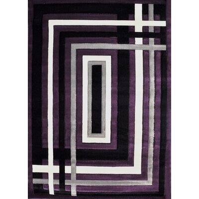 Clayborne Purple Area Rug Rug Size: 53 x 72