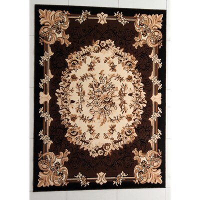 Pimlico Brown Area Rug Rug Size: 53 x 72
