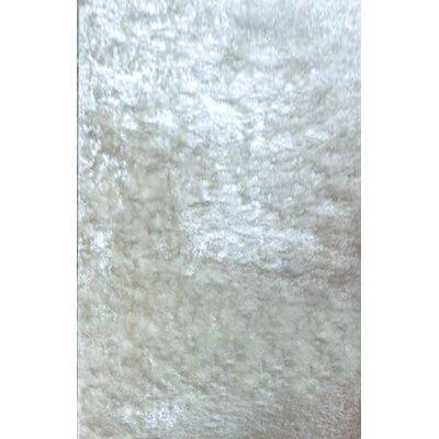 Vie White Area Rug Rug Size: 711 x 910