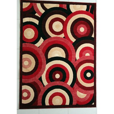 Adarsh Red Area Rug Rug Size: 711 x 910
