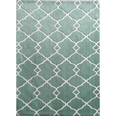 Peterson Turquoise Area Rug Rug Size: 53 x 72