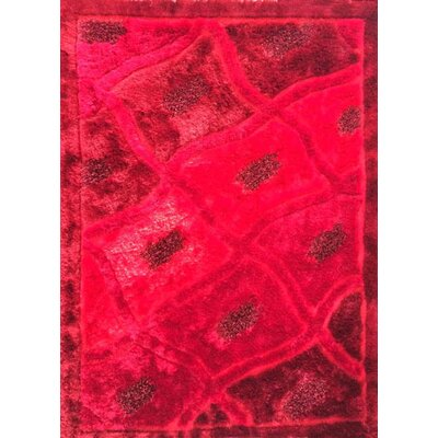 Anish Red Area Rug Rug Size: 53 x 72