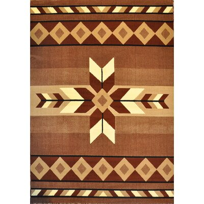 Esme Brown Area Rug Rug Size: 53 x 72