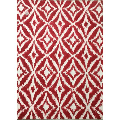 Bedell Burgundy Area Rug Rug Size: 53 x 72