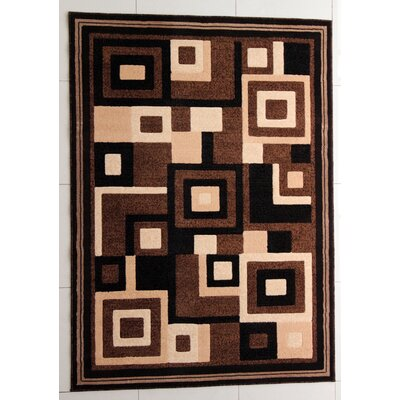 Fischer Brown Area Rug Rug Size: 4 x 6