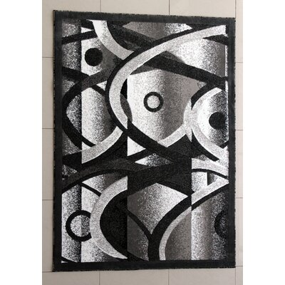 Decory Dark Gray Area Rug Rug Size: 53 x 72