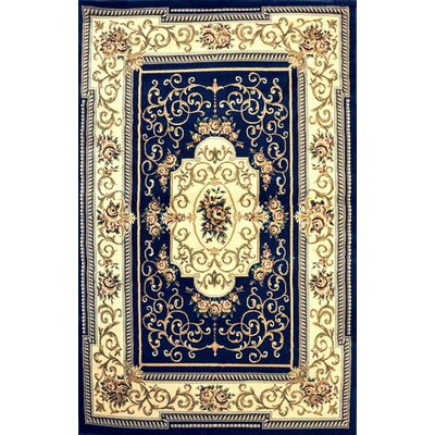 Alfredson Dark Blue Area Rug Rug Size: Rectangle 2 x 3
