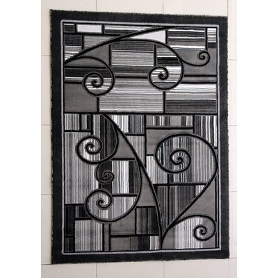 Haughton Dark Gray Area Rug Rug Size: 2 x 3