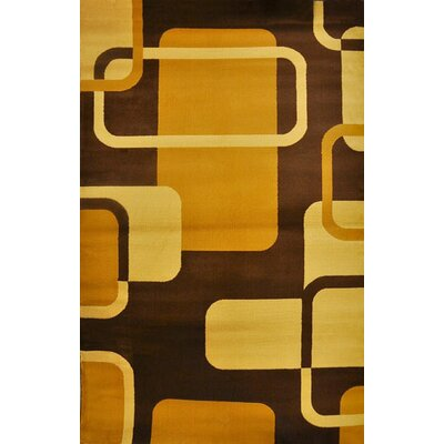 Phindile Brown Area Rug Rug Size: 711 x 910