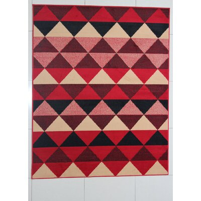 Fernande Red Area Rug Rug Size: Runner 2 x 72