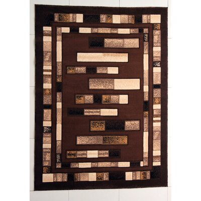 Hormazabal Brown Area Rug Rug Size: 53 x 72