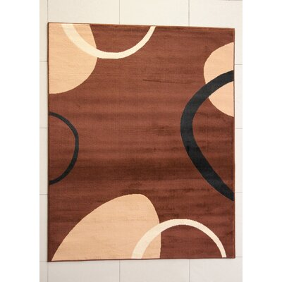 Devotia Brown Area Rug Rug Size: 53 x 72