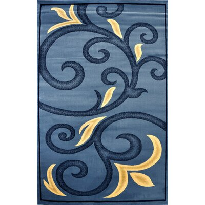 Harpe Light Blue Area Rug Rug Size: Runner 27 x 910