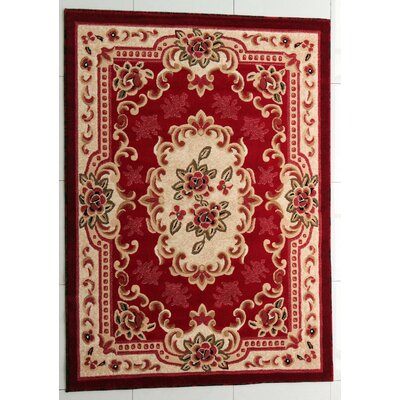 Portland Red Area Rug Rug Size: Runner 27 x 91