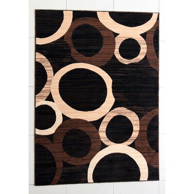 Ossher Black Area Rug Rug Size: 711 x 910