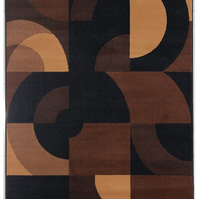 McNally Black Area Rug Rug Size: 53 x 72