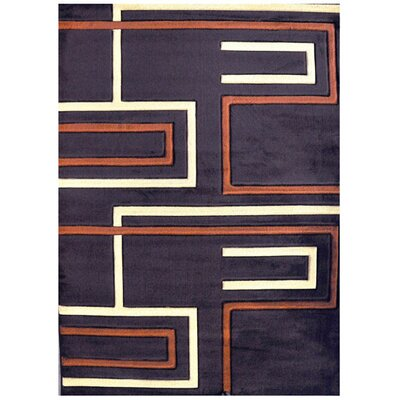 Cleodaus Brown Area Rug Rug Size: 53 x 72