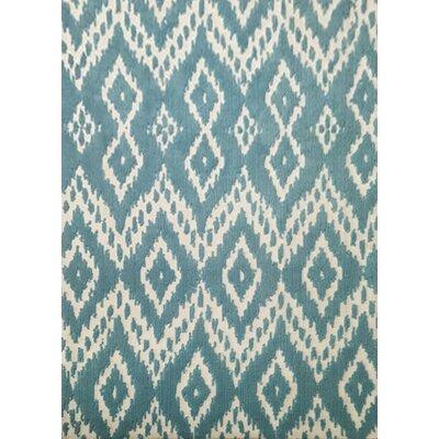 Elzada Blue Area Rug Rug Size: 53 x 72