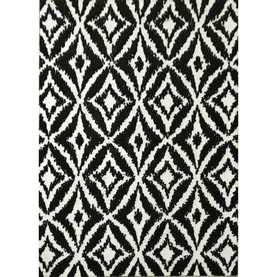 Gober Black Area Rug Rug Size: 53 x 72