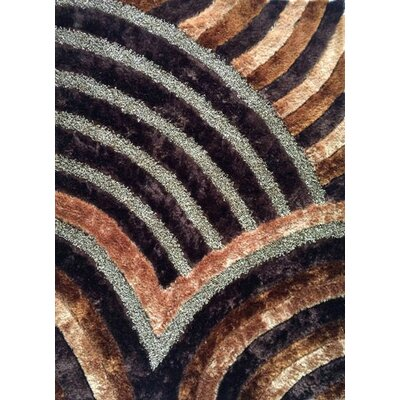 Mandar Brown Area Rug Rug Size: 53 x 72
