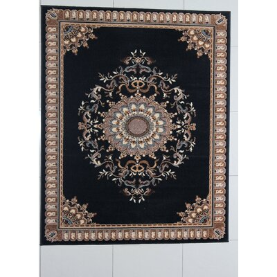 Purifoy Black Area Rug Rug Size: 711 x 910