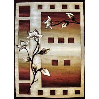 Kaddy Burgundy Area Rug Rug Size: Runner 27 x 910